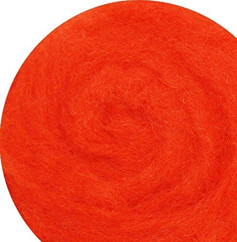 Laine à pour feutrer pour à feutrage sec et humide – Foncé Rouge Orange 100g. B015XUTW5K 779b0b