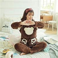 Yshuiyi Pijamas Mujeres De Maternidad De Invierno De Manga Larga Engrosamiento Coral Fleece Pijamas Conjunto Mujer Embarazada Usar Gran Tamaño Cálido Franela Pijamas Conjunto