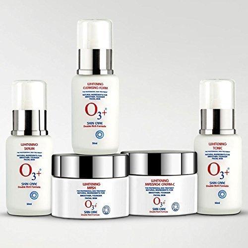 O3 + Soins de la peau du visage kit (mousse nettoyante + Crème + Masque + Sérum + Tonique) avec gratuit Ayur Savon