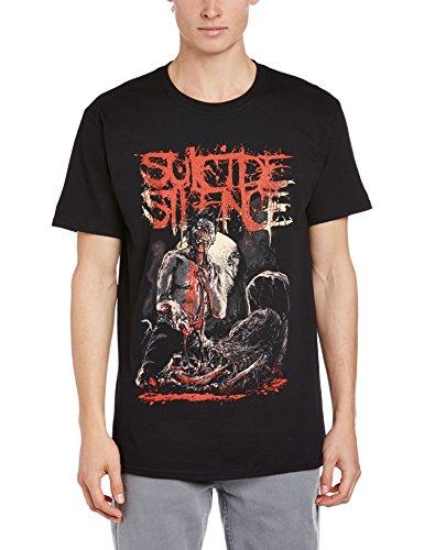 Suicide Silence - Maglietta, Manica corta, Uomo, nero (Black), M