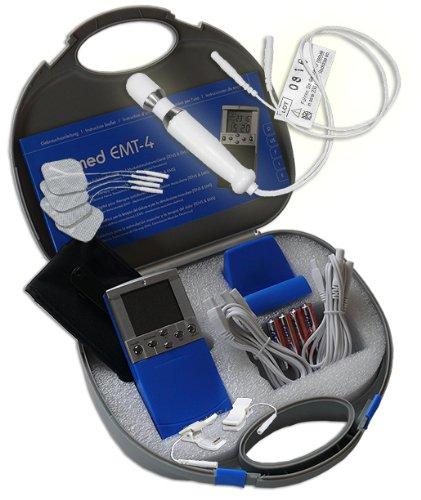 Inkontinenz-klemme (EMS / Tens 2-Kanal Reizstromgerät EMT-4 plus Analsonde PR6 + Klemmen. Medizinprodukt für wirksame Schmerz- und Muskelbehandlung)