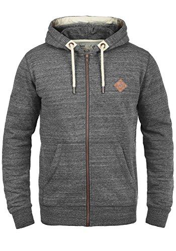!Solid Craig Herren Sweatjacke Kapuzenjacke Hoodie Mit Kapuze Und Reißverschluss, Größe:L, Farbe:Grey Melange (8236) -