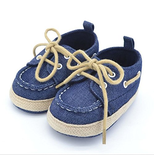 Unbekannt, Scarpe primi passi bambini Blu Blu jeans 2