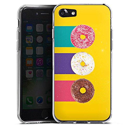 Apple iPhone X Silikon Hülle Case Schutzhülle Donuts Süßigkeiten Candy Silikon Case transparent