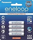 #4: Panasonic eneloop 4×AAA 800mAh Ready to use for Multi use Ni-MH Rechargeable Batteries