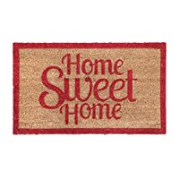 New Natural Coir Non Slip Welcome Floor Entrance Door Mat Anti Slip Indoor Outdoor Doormat (Home Sweet Home)