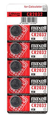 Maxell-CR2032-3V-Pilas-Litio-Buttoncoin-paquete-de-5-unidades