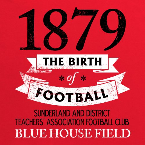 Sunderland - Birth of Football T-Shirt, Herren Rot