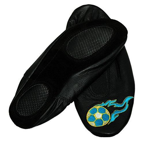 Scarpe Da Ginnastica Lappa.de Lappade, Ballerine, Ballerine, Pantofole, Pantofole, Pantofole, Scarpe Da Ballo Con Ricamo Calcio Nero Turchese