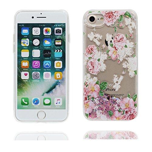 """iPhone 7 Plus Coque, Skin Hard Clear étui iPhone 7 Plus, Design Glitter Bling Sparkles Shinny Flowing Apple iPhone 7 Plus Case Cover 5.5"""", résistant aux chocs (Bling Heart) # 4"""