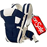 Teeny Weeny Adjustable Hands-Free 4-in-1 / Baby Carry Bag/Baby Safety Belt/Kid Carry Bag/Baby Sling/Back Baby Carrier Cum Kangaroo Bag/Front Carrier for Baby Kids Carrier Belt/Buckle Straps (Blue)