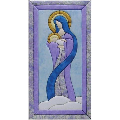 Quilt Magic - Kit de patchwork (25,4 x 48,2 cm), diseño de la virgen María y el niño Jesús