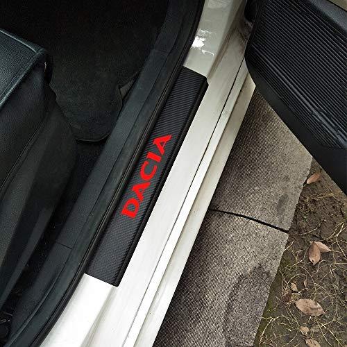 4 Stücke Für Alle Dacia Cars Kohlefaser Vinyl Aufkleber Autotür Einstiegsleisten Verschleißplatte Einstiegsleisten Für Dacia Ref 10 Duster Sandero Logan Auto Zubehör