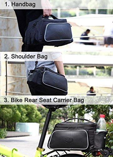LKN Radfahren Fahrradtasche wasserdicht Fahrrad Hinterrad Pack Tasche Sattel Tasche mit Triangle Tasche vorne Satteltasche Schwarz