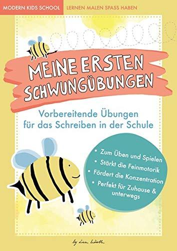 Lustige Schwungübungen - Übungsheft zur Stärkung der Feinmotorik und Konzentration: Vorbereitende Übungen für das Schreiben lernen für Kinder in der ... Übungen für Vorschule und Kindergarten