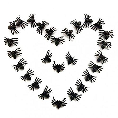 schwarz Spider Trick Spielzeug Party Halloween Haunted House Prop Decor amesii (Scary Spider Halloween-augen)