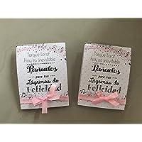 Lágrimas de Felicidad para Bodas con pañuelo de papel diseño de notas musicales en tonos rosas