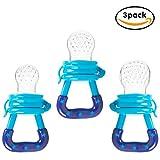 Baby Fresh Food Feeder,Tinabless 3 Pack juguete de dentición de pezón de silicona para alimentos, tetina de goma reutilizable para bebés y niños pequeños (S/M/L)