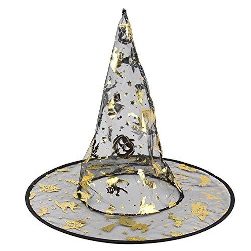 Kürbis Kostüm Tanz (IVIM Halloween Hexenhut mit Exquisitem Muster (Spinne, Hexe, Kürbis) für Kostüm Party, Tanz Party, Cosplay, Verschiedene Stile)