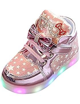 zum 1-6 Jahre alt URSING Baby Mädchen Prinzessin Mode Bogenknoten Star Luminous Sneakers LED leuchtet Kinder Kleinkind...