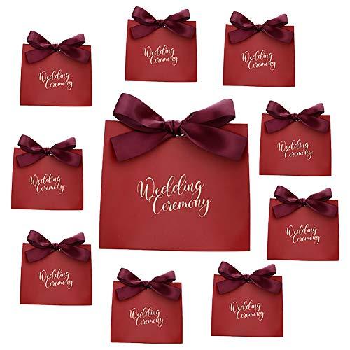 Billty 10 Stück Hochzeitsbevorzugung Pralinenschachtel Geschenkboxen Kuchen Kekse Leckereien Süßigkeiten Handgemachtes Baby Bad Duschseifen Geschenkboxen Weihnachten Geburtstage Feiertage Hochzeiten