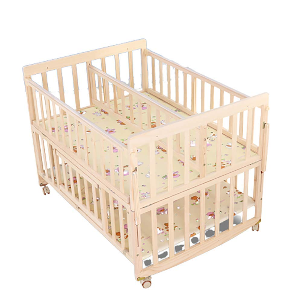 VBARV Solid Wood Environmentally Friendly Paint-free Twin Crib, Baby Double Child Bed, Queen Size Bed, Matching Seven-piece Set VBARV Environmentally friendly, no paint, made of pure solid wood, it is really for the health of the baby! Safe care, close to the natural colors, unique design style set the essence of a lifetime. Anti-corrosion and insect-proof, strong durability, anti-interference aging, corrosion resistance, water resistance, good coloration. 1