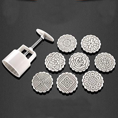 Biskuit-rahmen (KUNSE 75G 8 Blume Briefmarken Mond DIY Form Hand Druck Biskuit Teig Kuchenform Backen Werkzeug)