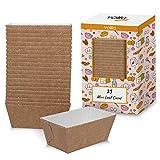 Wegwerp Mini Rechthoekige Bakvorm voor Brood Cake en Muffins Bruinkleurige Papieren Bakvormen (25 Stuks)