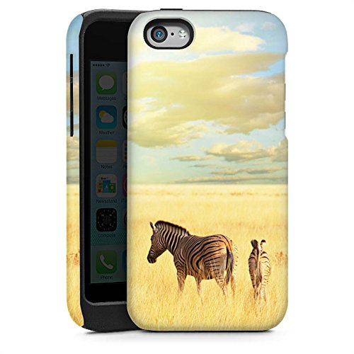 Apple iPhone 5s Housse Étui Protection Coque Zèbre Afrique Steppe Cas Tough brillant
