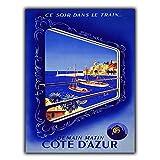 Côte d 'Azur Metall Schild Wandschild Vintage Retro Reise