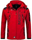 Geographical Norway Herren Softshelljacke Tambour Kapuze, Stehkragen red S