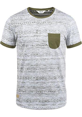 !Solid Ingo Herren T-Shirt Kurzarm Shirt Mit Rundhalsausschnitt und Inka-Print Aus 100% Baumwolle, Größe:XXL, Farbe:Ivy Green (3797)