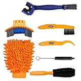 7 pezzi Set di utensili per pulizia bici bicicletta Clean Brush kit per bici catena/pneumatico/pignone Cycling Corner macchia Dirt Clean – Fit per mountain bike Road bike City Bike pieghevole bici etc