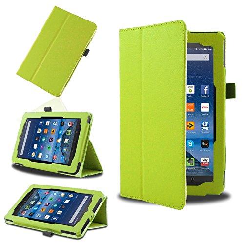 SAVFY® Amazon Fire Hülle Schutzhülle für Fire (7-Zoll-Tablet, 5. Generation - 2015 Modell) -grün
