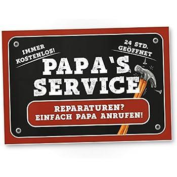 """Blechschild   /""""Papas Garage Reparaturen aller Art  /""""  20x30cm"""