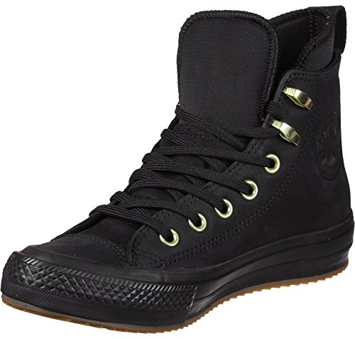 Converse Ctas Watreproof Boot Hi Damen Ankle Stiefel, Größe 41.5 EU, Farbe Schwarz (black/black/brass) (Boot Ankle Hi)