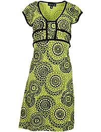 Mesdames coloré, casquette robe à manches avec motif floral.