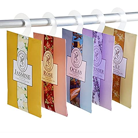 BESTOOL Protable Clothes Fragrant Scented Sachets Bags Set with Hanger