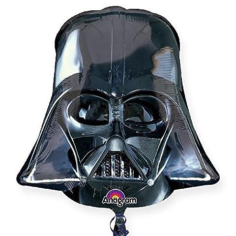 Star Wars Darth Vader Helmet Black Supershape Balloon Helium Foil Anagram Balloons