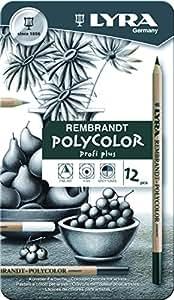 Lyra 2001122 Rembrandt Polycolor Künstler-Farbstifte, Holz, farbig sortiert, 18,8 x 1,3 x 11,0 cm
