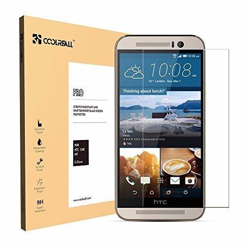 Coolreall HTC M9 vidrio templado Protector de Pantalla (alta Definicio