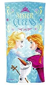 La Reine des Neiges - Drap de Plage Sister Queens (Kids Euroswan WD15019)