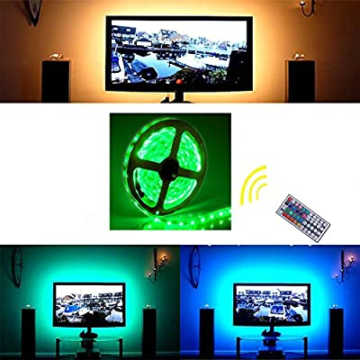 LED Strip Lights Kit Flexible Wateproof 5050 RGB LED Strip Light TV Background Lighting Led Tape Light with 44 Key Remote