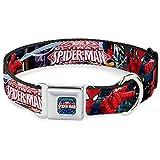 Buckle Down 22,9–38,1cm spdk-Ultimate Spider-Man/Web Full Color Hund Halsband