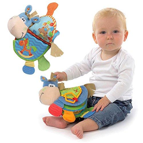 Animal libro di panno del bambino giocattoli di attività di sviluppo libro Neonato Giocattolo Learning & Education morbida Libri svolgimento, giocattolo educativo -Asino