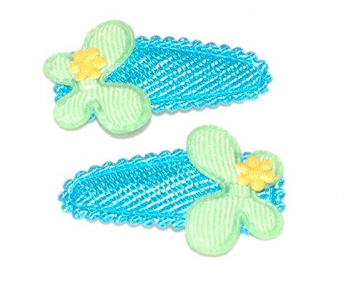 2 Pinces à cheveux avec fleur en tissu