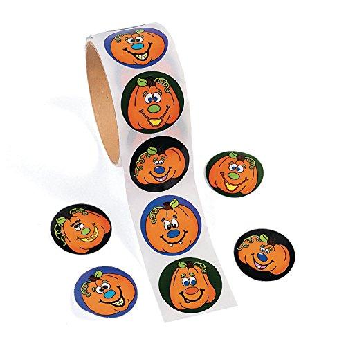 cama24com Lustige Halloween Kürbis Gesichter Aufkleber Sticker 100 Stück Mitgebsel Mottoparty mit Palandi Sticker