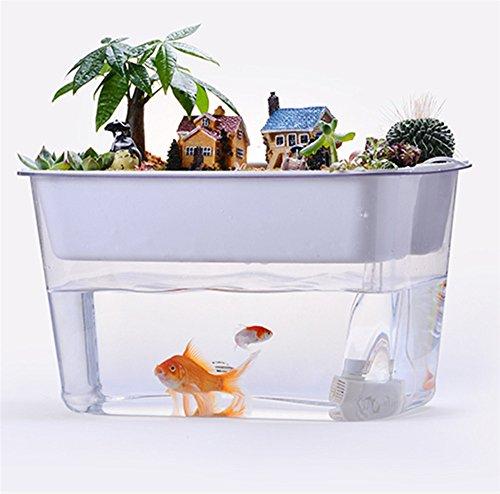 MUJING Aquarium, Hydroponisches Wachstums System. Fisch-und Gemüse Symbiose Aquarium Starter Kit Für Fisch Tanks. Ideal Für Kinder Weihnachten/Halloween-Geschenke