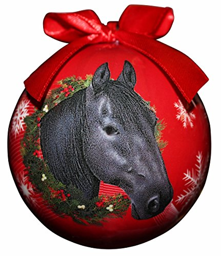 E&S Pets Pferd Weihnachten Ornament bruchsicher Ball einfach, Pferdeliebhaber -