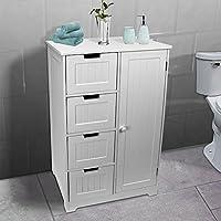 AVC Designs Bathroom Bedroom Nursery Storage Cabinet Dresser 4-Drawer + Door Cupboard